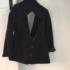 anonymous Jackets & Coats - Anonymous clothing black backless blazer sexy S
